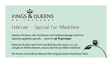 Februar Aktion Kings & Queens